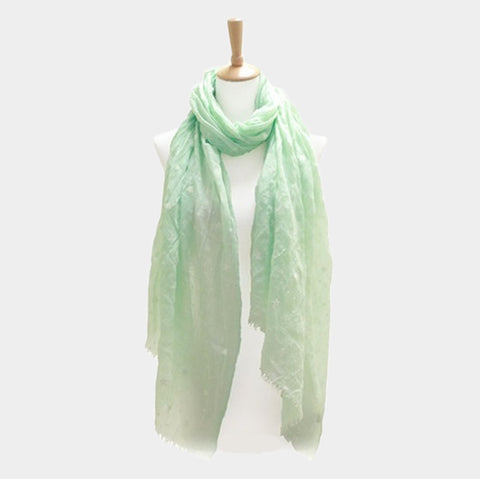 Mint Star Scarf
