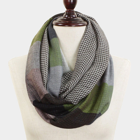 Green and Black Infinity Scarf