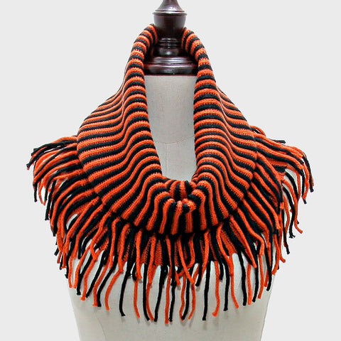 Orange & Black Snood Scarf