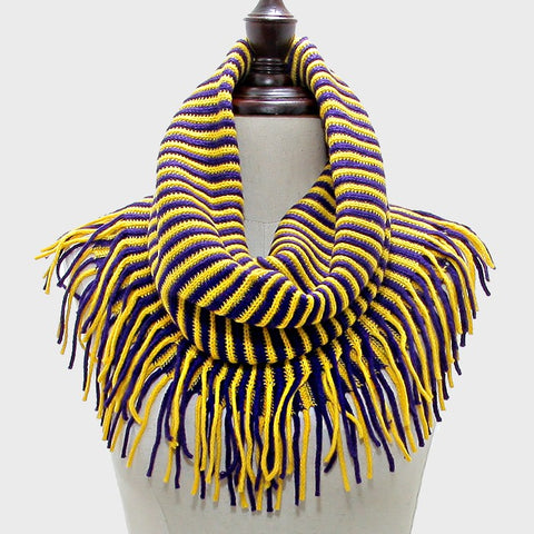 Yellow & Purple Snood Scarf