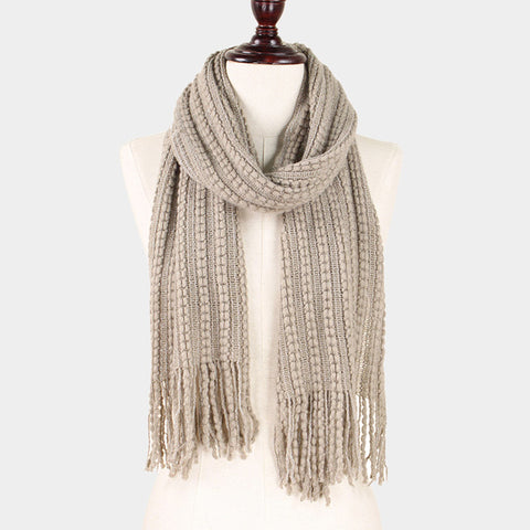 Taupe Knit Scarf