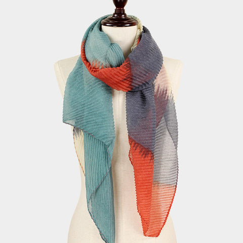 Orange Abstract Scarf