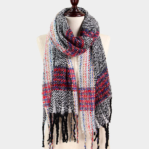 Multi Color Brushed Scarf