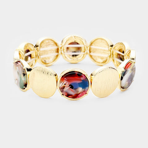 Multi Color Disc Bracelet