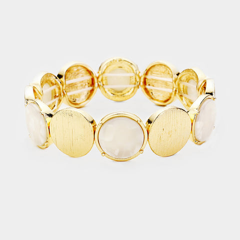 Gold Disc Stretch Bracelet