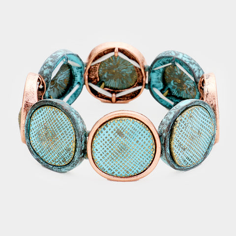 Patina Abstract Round Bracelet
