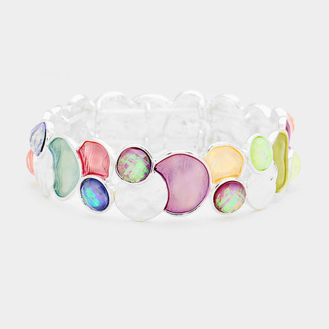 Multi Color Bubble Stretch Bracelet