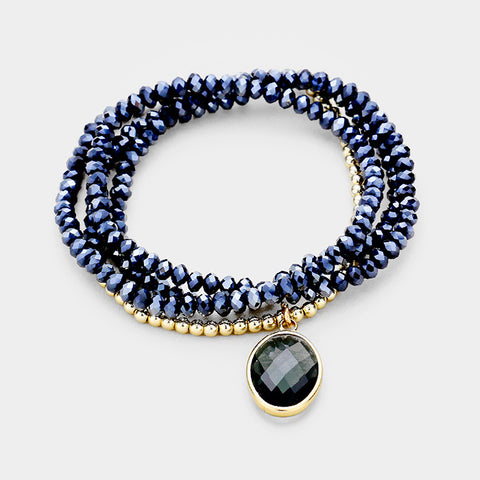 Gold and Navy Bracelet