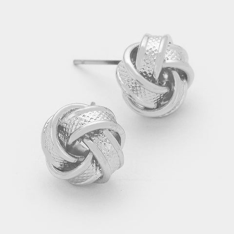 Textured Knot Earrings