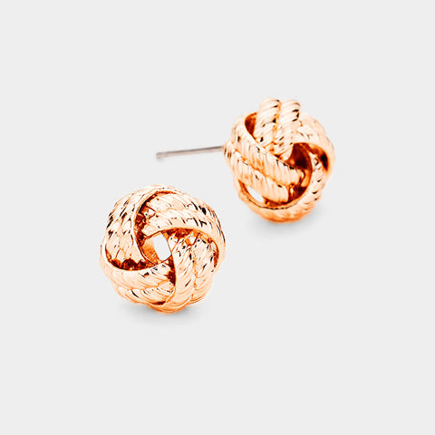Rose Gold Knot Earrings