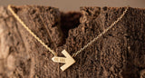 Gold Arrow Necklace for Pelotonia