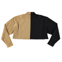 50/50 crop long sleeve shirt