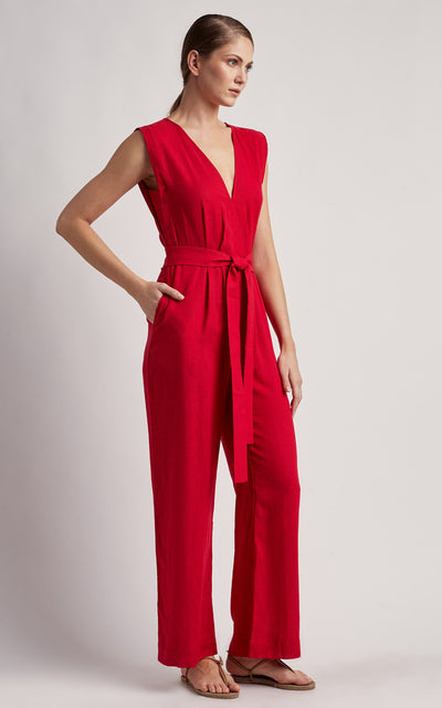 Delhi V-Cut Long Jumpsuit