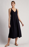 Black Strap Stitching Dress