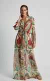 Mineral Premium Long Sarong Cover-Up Maxi Runway Dress
