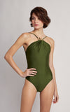 Grove Embellished High Neck One Piece Swimsuit