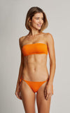 Tangerine Basic Bandeau Top and String Bottom