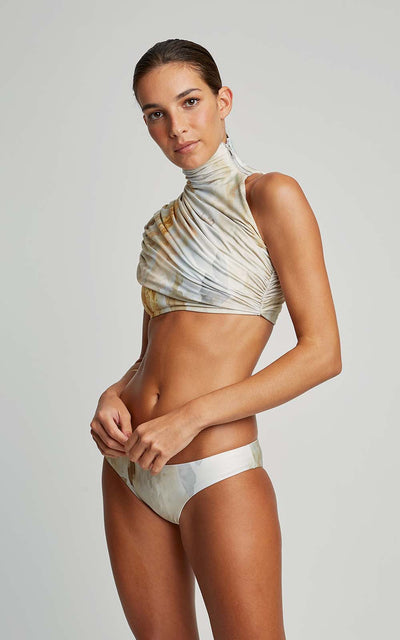 Tuscany Draped Collar Runway Top and Swim Runway Bottom