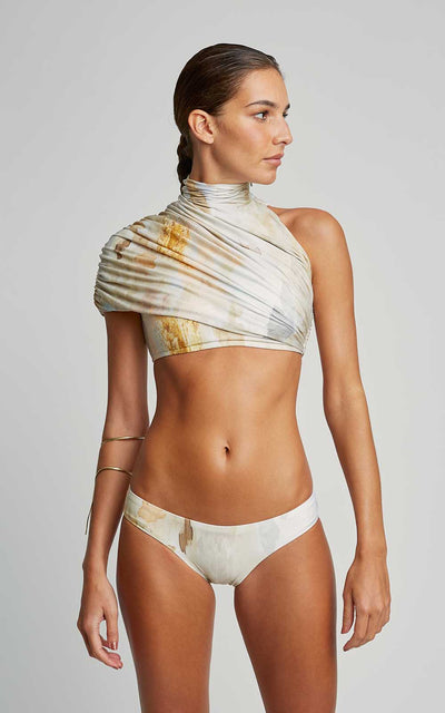 Tuscany Bikini Draped Collar Runway Top and Swim Runway Bottom