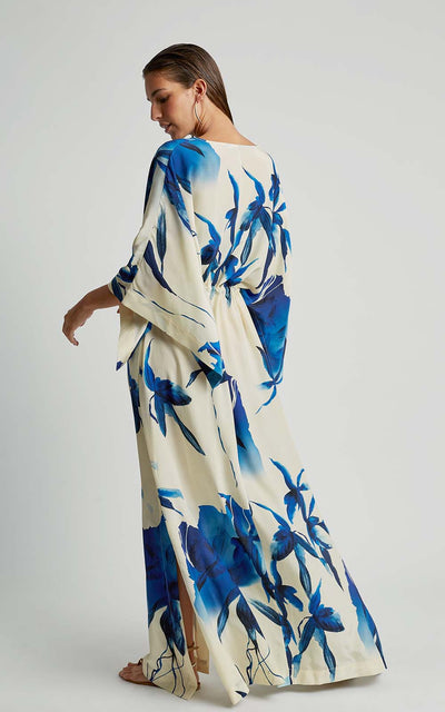 Watercolor Premium Kimono Runway Dress