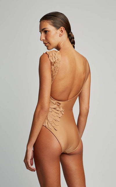 Almond Petals Runway One Piece Swimsuit