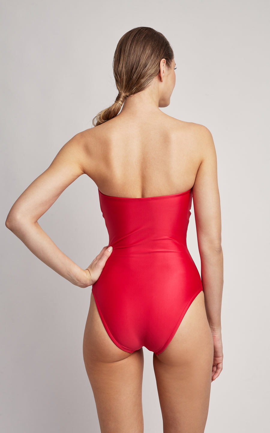 Delhi Embellished Bandeau One Piece Swimsuit