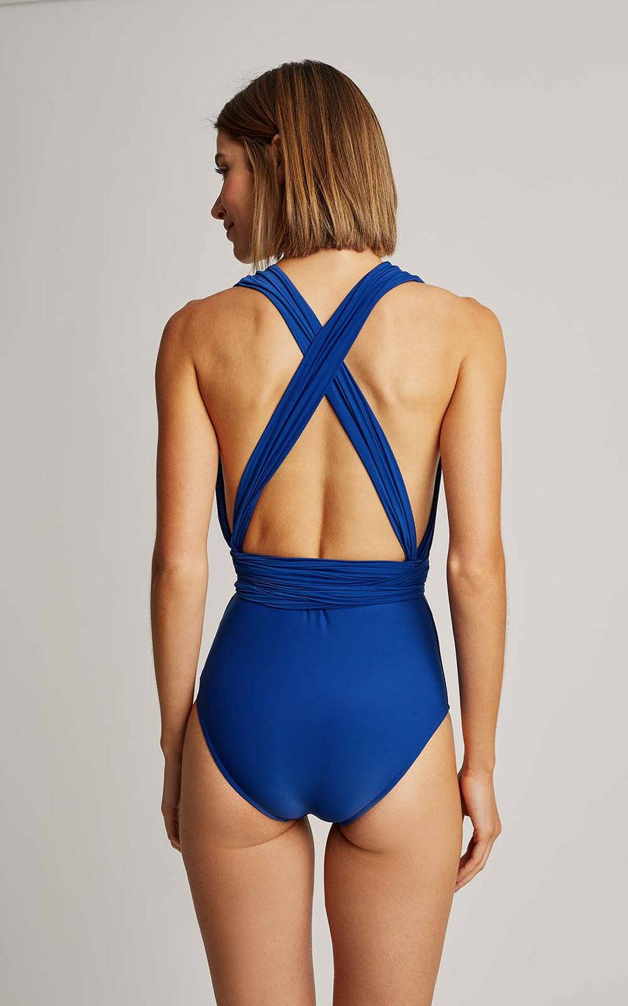 Royal Blue Chic Halter One Piece Swimsuit (SUSTAINABLE COLLECTION)