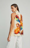 Terra Nova High-Neck Silk Runway Tank Top