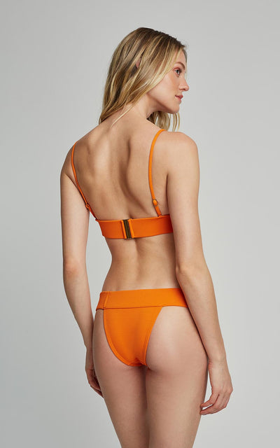 Tangerine Bikini Triangle Top and Waistband Bottom