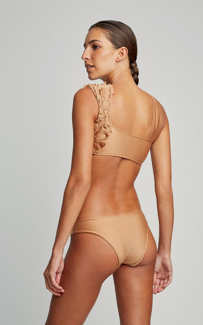 Almond Bikini Petals Runway Top and Swim Runway Bottom