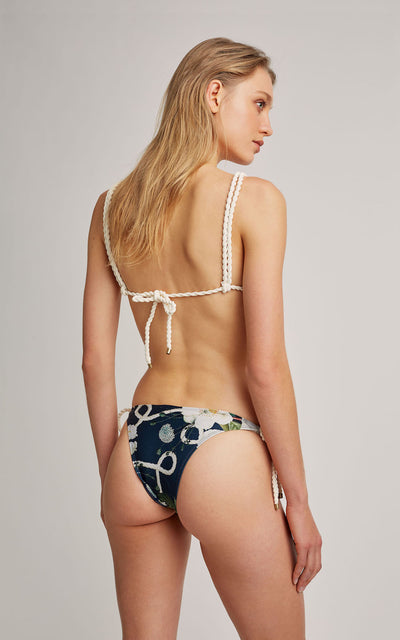 Navy String Top and Bottom