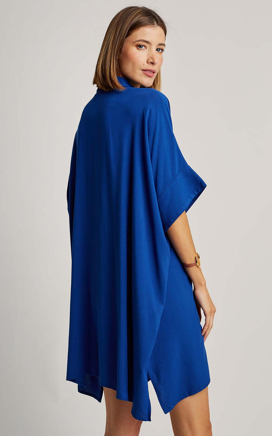 Royal Blue Trapeze Cover-Up