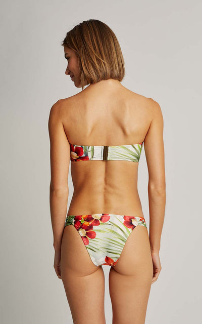 Map Bikini  Drop Bandeau Top and Draped Bottom