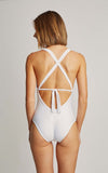 White Deco One Piece Swimsuit