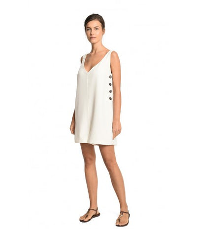 OFF WHITE BUTTONS ROMPER