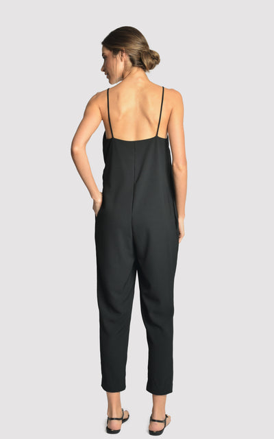 BLACK TRANSPASSED JUMPSUIT