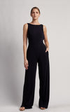 Black Clean Mesh Jumpsuit