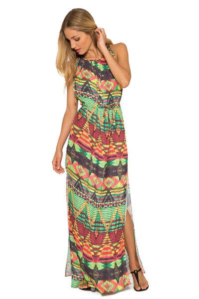 Balinese Long Pleated Dress