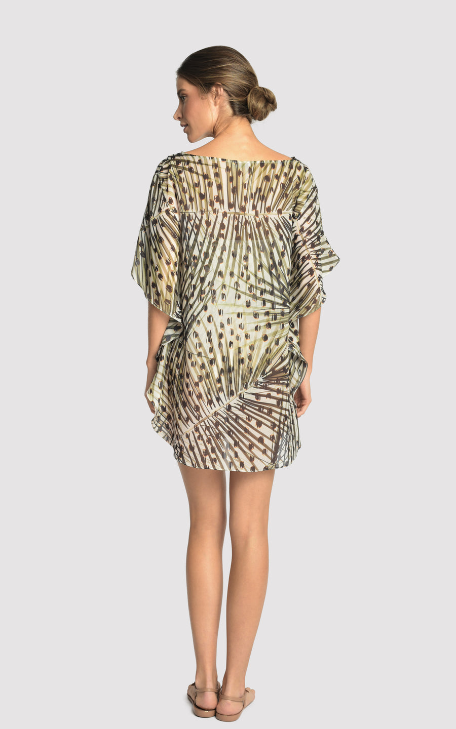 Cheetah New Caftan Ju Cove-Up