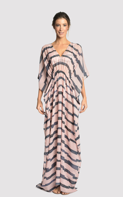 MARINA LONG RUFFLED CAFTAN