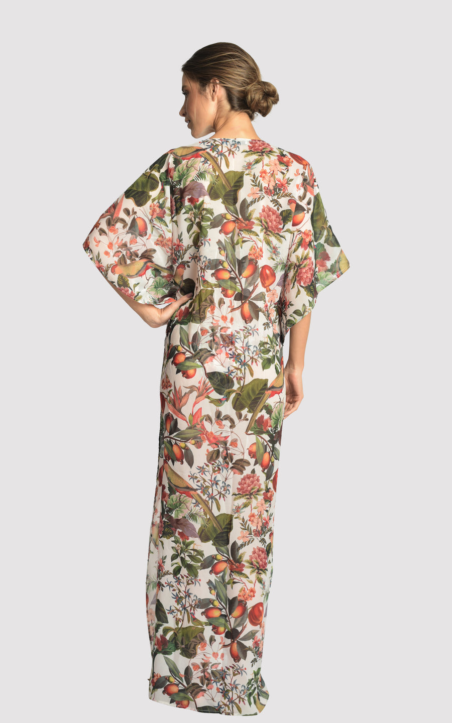 POME LONG RUFFLED CAFTAN