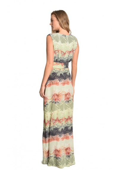 Atlantis Silk Pleat Maxi Dress