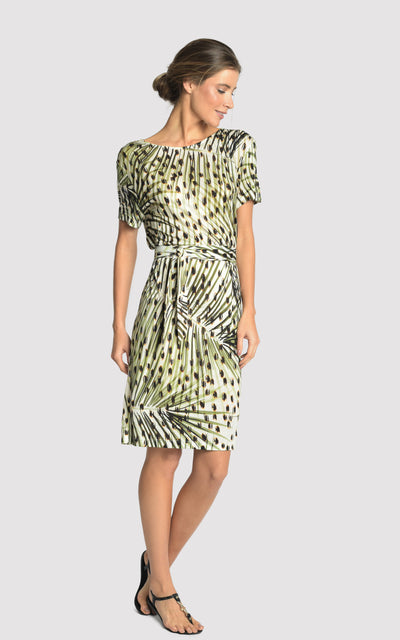 Cheetah Printed Knit Dress Cover-up