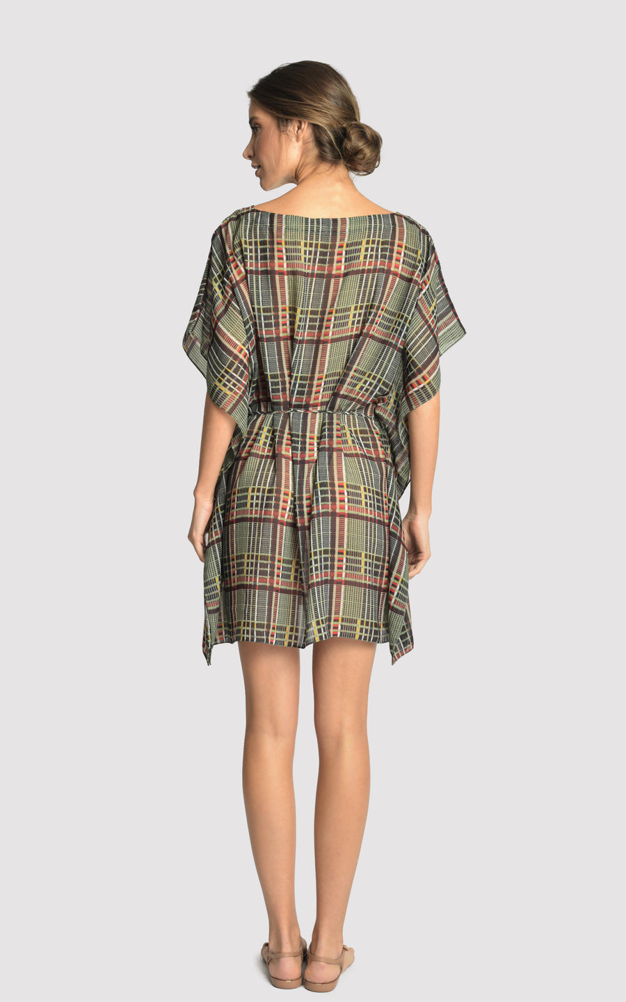 Plaid New Caftan Cover-Up