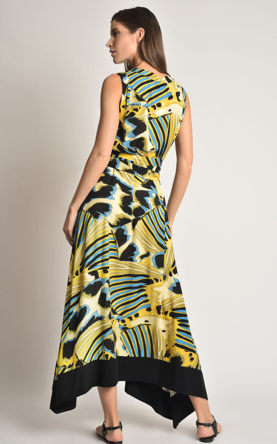 Panapana Barred Viscose Dress