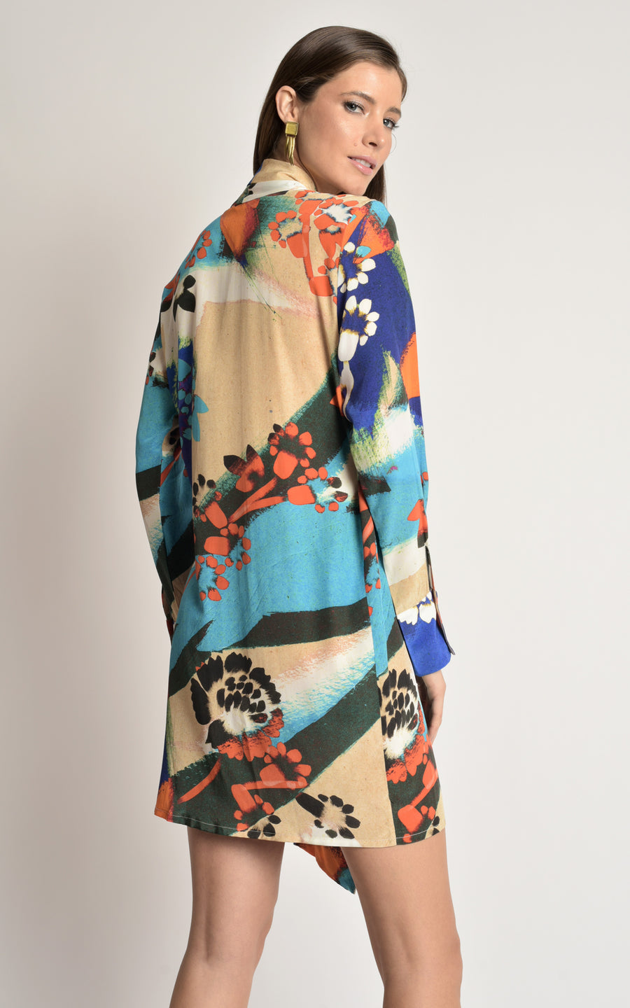 Brush Silk Kimono Dress