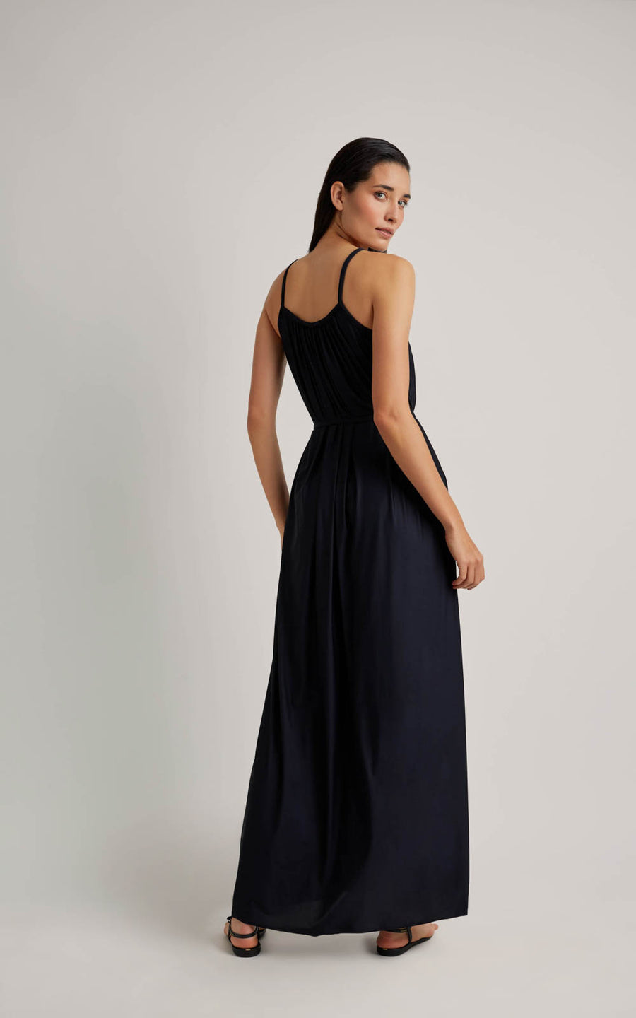 Black Embellished Long Dress (SUSTAINABLE COLLECTION)