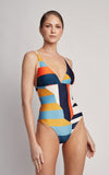 Mexico Long Triangle One Piece Swimsuit