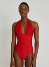 Caravel Ruched Halter One Piece Swimsuit