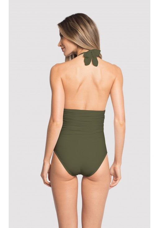 Forest Adjustable Halter One Piece Swimsuit